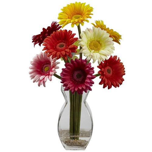 Assorted Gerbera Daisy w/Vase Arrangement