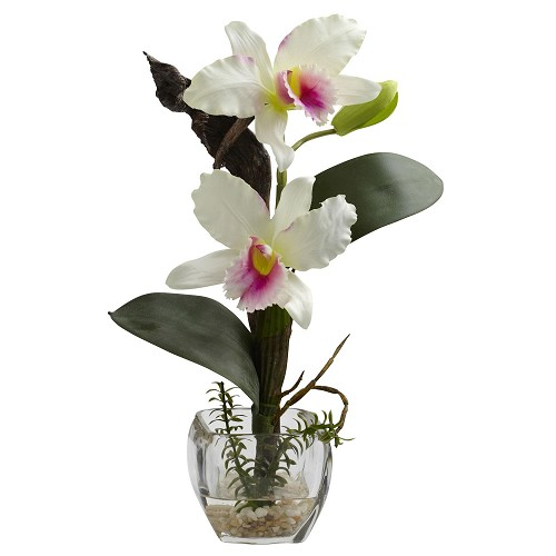 Beauty & White Mixed Orchid w/Cube Arrangements (Set of 3)