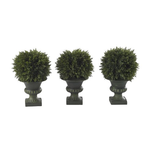 9'' Cedar Ball Topiary (Set of 3)