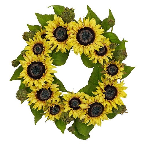 22'' Sunflower Wreath