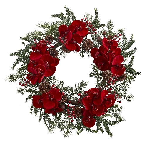 22'' Orchid, Berry & Pine Holiday Wreath