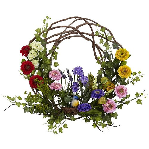 22'' Spring Floral Wreath