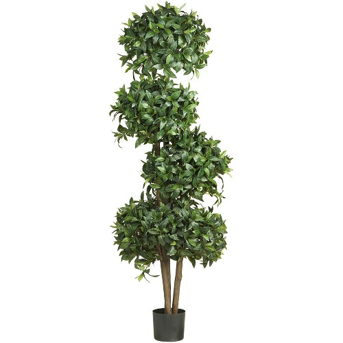 69'' Sweet Bay Topiary w/4 Balls Silk Tree