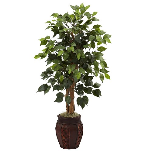 44'' Ficus Tree w/Decorative Planter