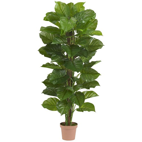 63'' Large Leaf Philodendron Silk Plant (Real Touch)