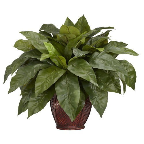 Birds Nest Fern w/Decorative Vase Silk Plant
