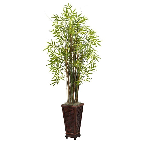5.5' Grass Bamboo Plant w/Decorative Planter